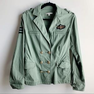 Cabi military utility patch double breasted jacket